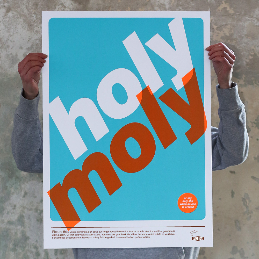 Gezeefdrukte poster Holy moly