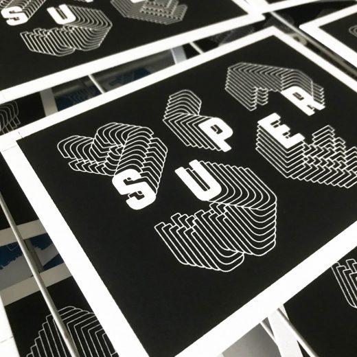 Wenskaart SUPER zeefdrukken