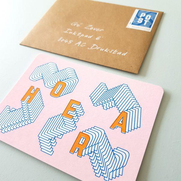 Postzegel in stijl - blauw