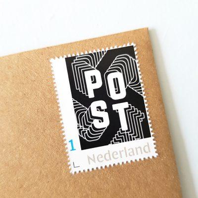 Postzegel in stijl - zwart