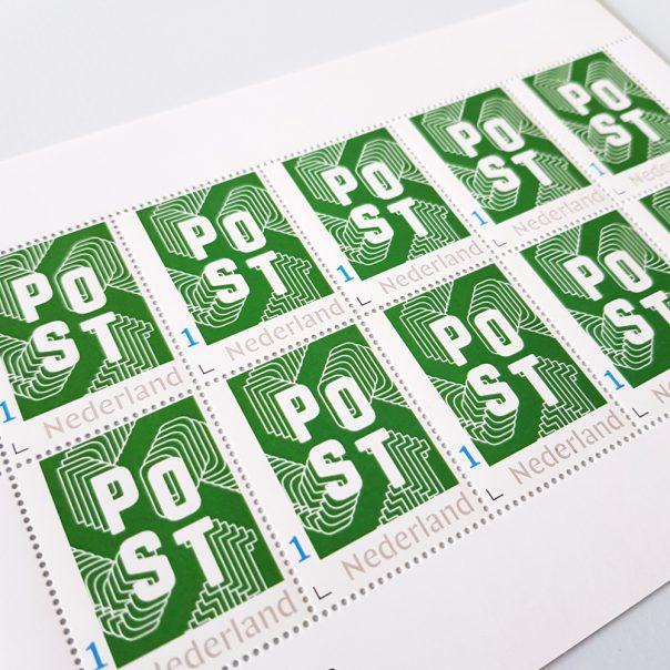Postzegels in stijl - groen